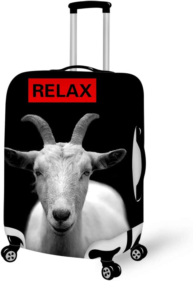 Relax Ive Goat Got This Goat Humor Washable Travel Luggage Cover Elastic Suitcase Trolley Protector Cover for 22-24 inch Luggage