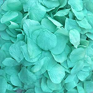 BirchForest Tiffany Green Color 1000pcs Artificial Silk Rose Fake Petals Flower DIY Wedding Prom Home Any Party Decor (Tiffany Green) 8