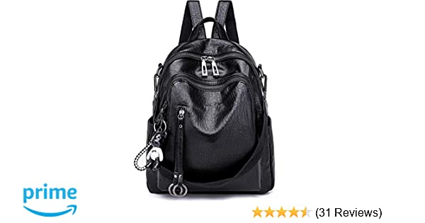 38d40111ac8d SYKT Backpack Purse for Women Fashion School PU Leather Purses and Hangbags  Shoulder Bags  Handbags  Amazon.com