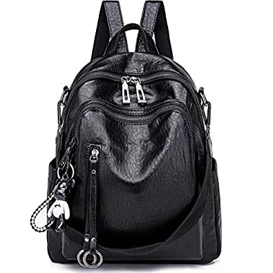 ebd3c3a309b9 SYKT Backpack Purse for Women Fashion School PU Leather Purses and ...