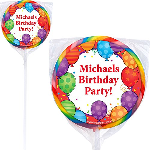 Birthday Balloons Lollipops (Pack Of 12) - Party Supplies]()