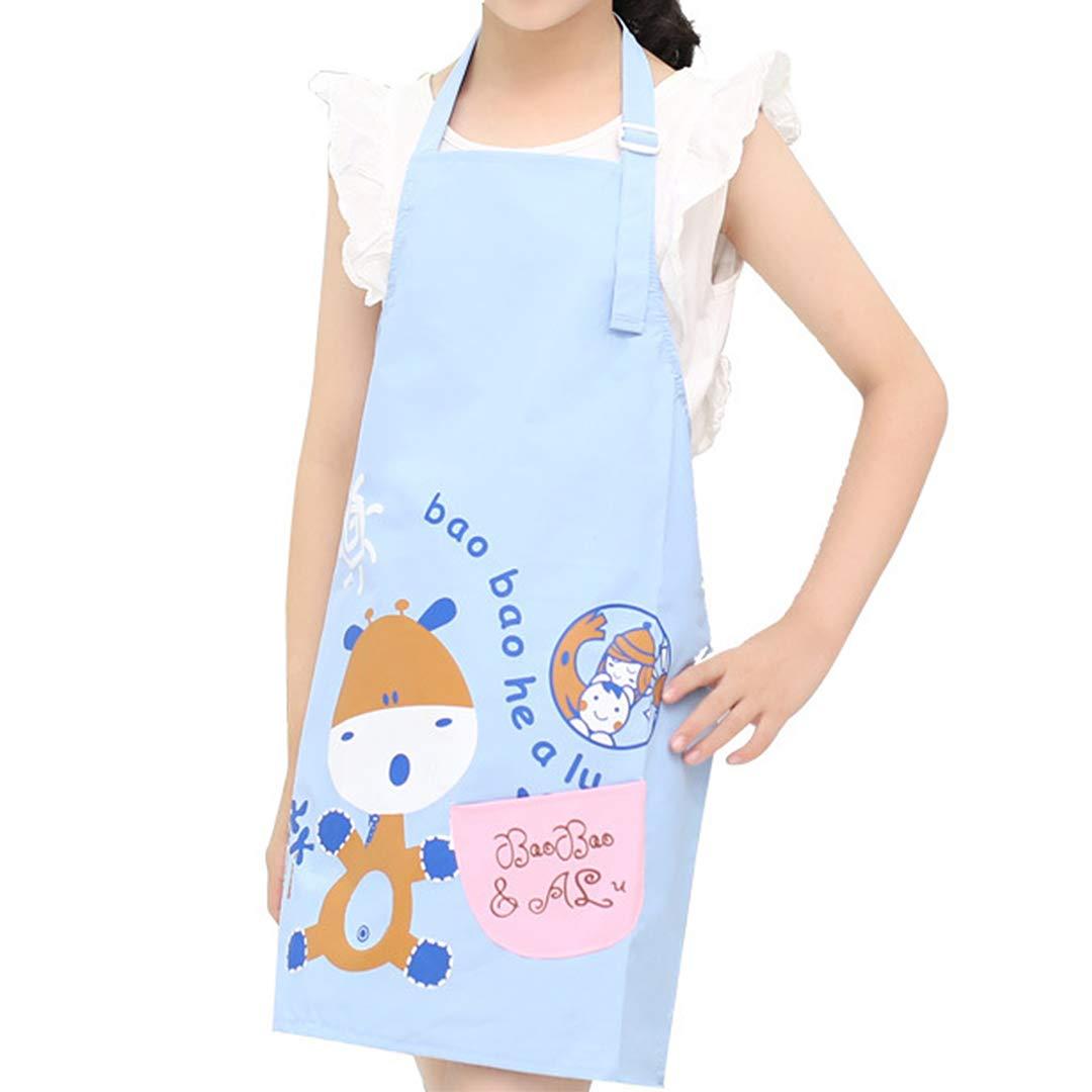 Radish Stars 料理用エプロン 調節可能 防水 高品質 洗濯可能 親子用 ビブ キッチン レストラン ベーキング ペインティング ガーデニング children size ブルー children size ブルー B07FPMNRJM