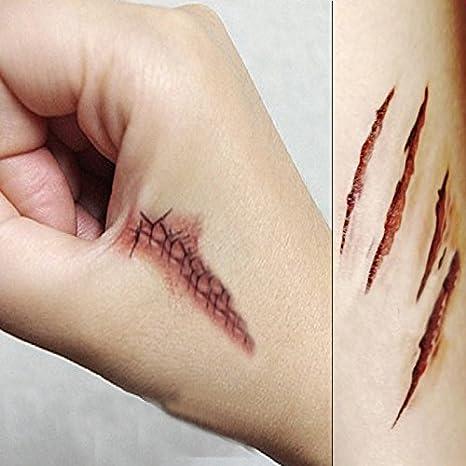 Tatuajes Temporales - Youson Girl® 10 PCS Halloween cicatrices ...