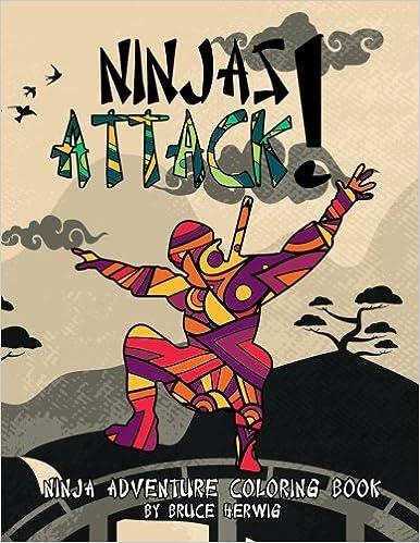 Amazon.com: Ninjas Attack!: Ninja Adventure Coloring Book ...