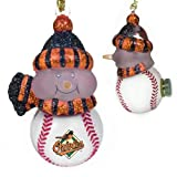 MLB All-Star Light-Up Snowman - Arizona Diamondbacks (Set of 3) MLB Team: Baltimore Orioles