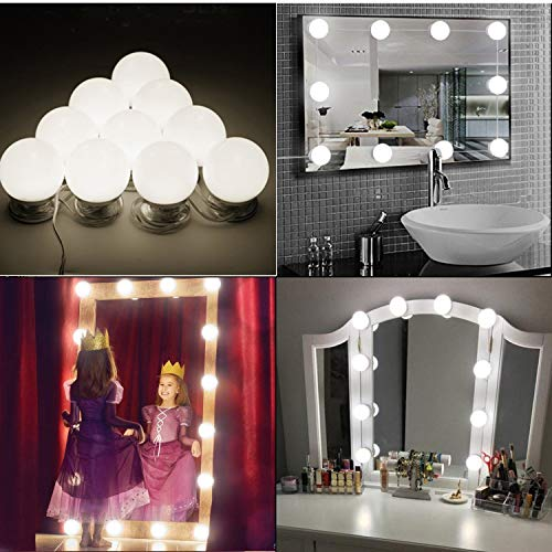 Hollywood Style Led Vanity Mirror Lights Kit Dimmable Light Bulbs Lighting Fixture Strip For