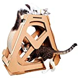 PENGYUYAN Cat Scratch Board - Cat Exercise Wheel Cat Tree Climbing House Running Spinning Toy for Cats - Cat Indoor Activity Center - M