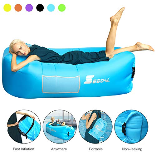 Inflatable Lounger Air Sofa Pouch Inflatable Couch