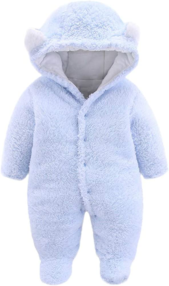 Featurestop Baby Girls Boys Velvet Flannel Footed Pajamas