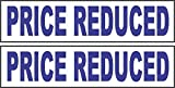 2 - 6x24 PRICE REDUCED Real Estate Rider Sign Blue