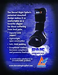 Cramer Dorsal Night Splint for Effective Relief From Plantar Fasciitis Pain, Heel & Arch Foot Pain, Slip Resistant Sleep Support, Comfortable Alternative to Posterior Splint with Easy Adjusting, Large
