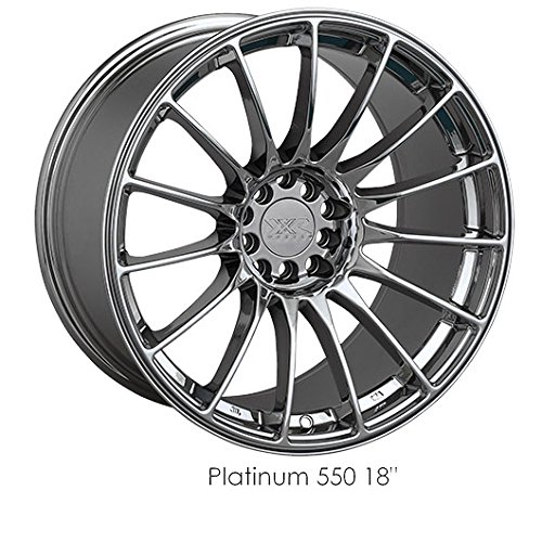 XXR 550 16 PVD Chrome Wheel / Rim 4x100 & 4x4.5 with a 21mm Offset and a 73.1 Hub Bore. Partnumber 550680801