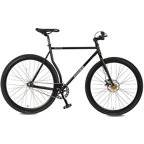 Merax Classic Fixed Gear Bike Single Speed Road Bike 54cm, Black