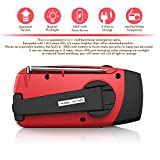 Esky-Solar-Hand-Crank-Self-Powered-Emergency-Radio-with-LED-Flashlight-and-1000mAh-Power-Bank