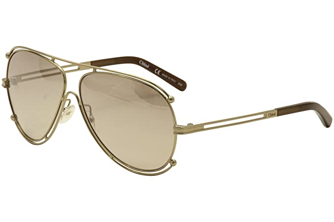 13790e7acfa1 Image Unavailable. Image not available for. Colour  Chloé ISIDORA CE121S ROSE  GOLD BROWN BROWN SHADED women Sunglasses