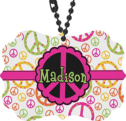 - YouCustomizeIt Peace Sign Rear View Mirror Charm (Personalized)