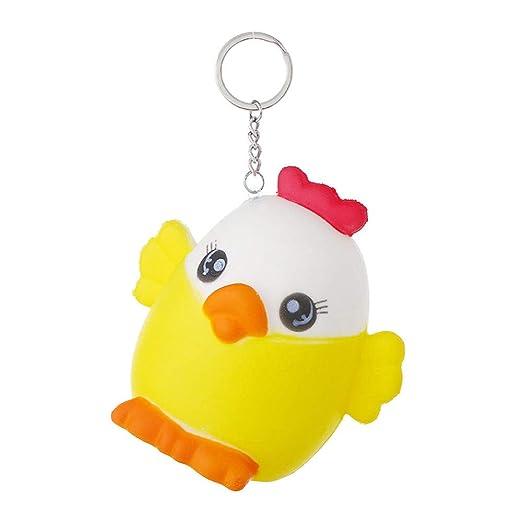 Llavero amarillo de juguete de pollito, color amarillo ...