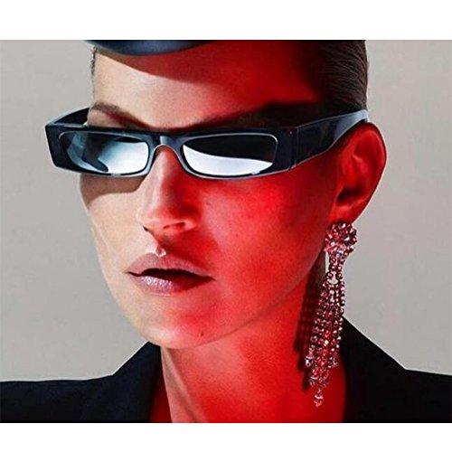 Rectángulo Leopard C1 Mujer 6 Brown Pequeña Color Rock de Gafas sol UV400 Moda Bisagra Escoger Gafas Lente de Retro para primavera Estilo Marco Hzjundasi xBnEfA1