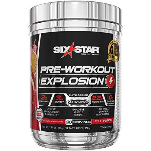 Pre Workout | Six Star PreWorkout Explosion | Pre Workout Powder for Men & Women | PreWorkout Energy Powder Drink Mix…