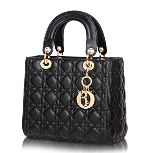 Leather Diamond Quilted Convertible Shoulder