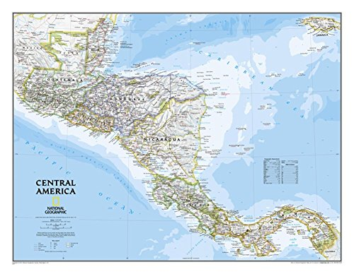 Central America Classic Wall Map Map Type: Laminated (22