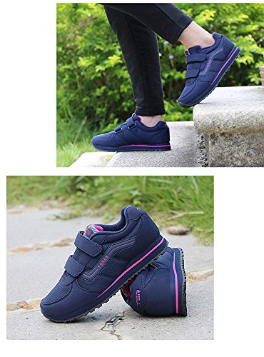 For casual Middle Winter sho Shoes The And Dark Women'S Aged Sports blue Shoes Mother Autumn Stickers Grinding Elderly Ax1rqAfw