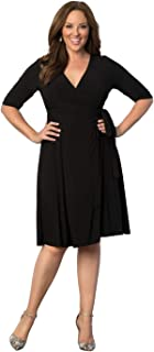 product image for Kiyonna Women's Plus Size Essential Wrap Dress