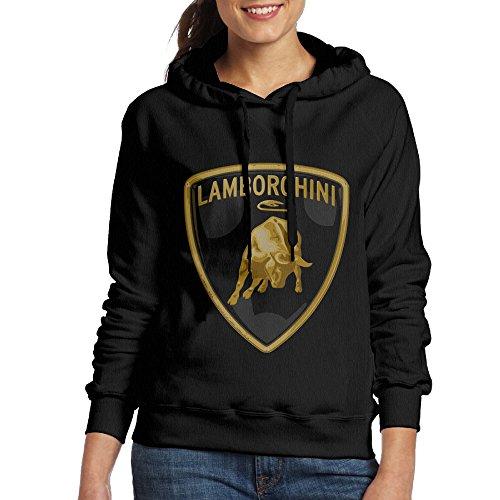 Lamborghini Logo Women Pullover Hooded Hoodie Sweatshirt Black