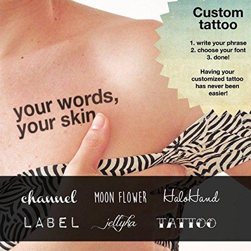 Tatuaje temporal personalizado (conjunto de 2): Amazon.es: Handmade