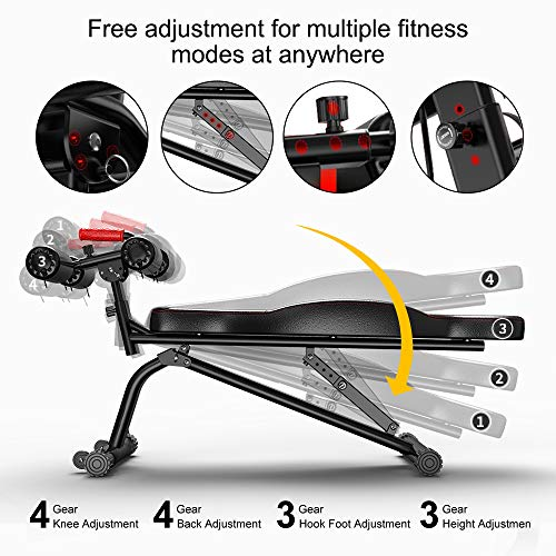 Steelbody Deluxe 6 Position Utility Weight Bench for Weightlifting and Strength Training STB-10105