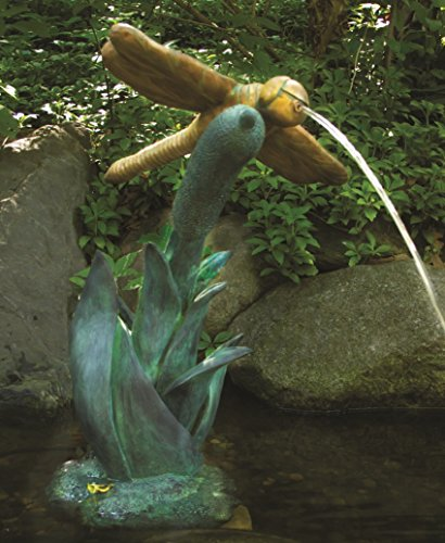 Aquascape Dragonfly Fountain Spitter for Pond, Container Water Garden, and Water Features, Poly-Resin | 78209