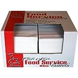 "Berk Wiper FST-3000W Chefs Select 1/4 Fold Premium Heavy Weight Food Service Towel, 21"" Length x 13"" Width, White"