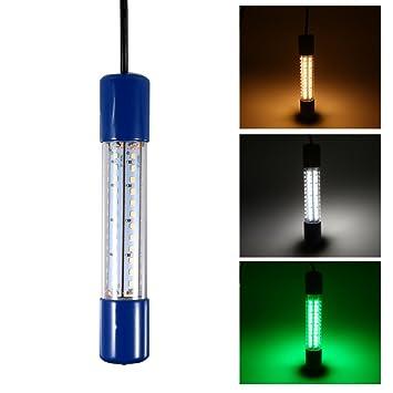Amazon.com: Lixada 12 V, 12 W 72 LED bajo el agua pesca de ...