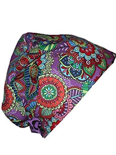 Mod Butterfly Hats (Scrub Hat Chemo Cap European Pixie Tie Back MANY Colors (mod butterfly))