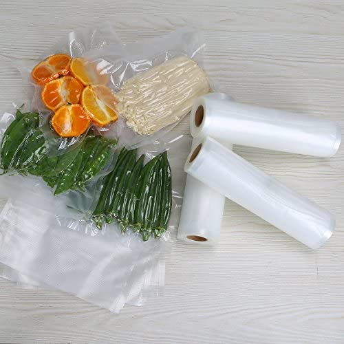 "Vacuum Sealer Bags-Rolls for Food Saver-Storage - 3 Rolls 8""x16.5'and three Rolls 11""x16.5' for Sous Vide Cooker, Vac Machine, Mircowave & Freezer"