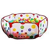 Jacone 1m Portable Durable Hexagon Polka Dot Kids Playpen Ball Pit Children Ball Play Pool Indoor and Outdoor Easy Folding Children Toy Play Tent with Tote Bag,Great and Exciting Toy for Kids