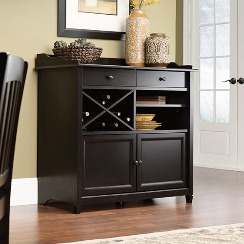 Sauder Edge Water Side Board, Estate Black by Sauder