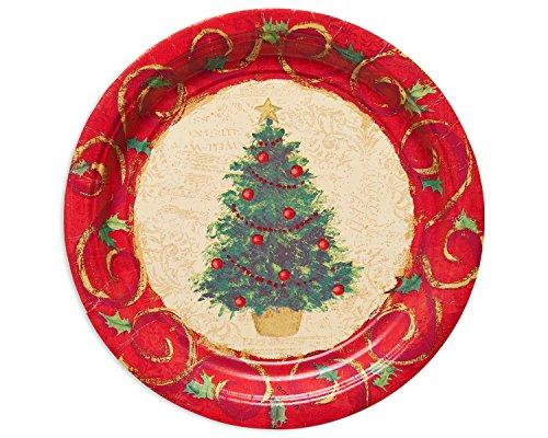 American Greetings 5391827Árbol de Navidad 17,8cm Plato Redondo (, 8Count, suministros para fiestas, multicoloreado