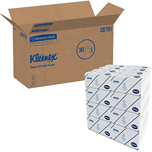 Kleenex 28791 Multifold Towels, 16.3 x 8.5, 2-Ply, White, 94 per Pack (Case of 30 Packs)