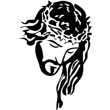Jesucristo Mirando Hacia Abajo El Pvc Dios Cristiano Pegatinas