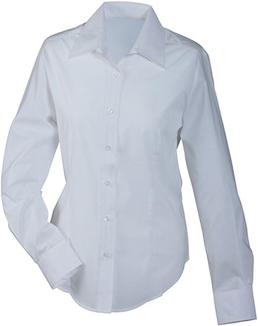 James & Nicholson Cómodo, fácil de limpiar de manga larga camisa y mujer Blusa