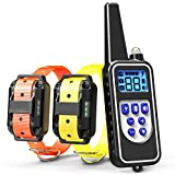 Cheap Cambond Dog Training Collar, 2 Dog Shock Collar with Remote 2600ft Range Waterproof Electronic Dog Collar for Medium and Large Breed Dog with 4 Training Modes Light Shock Vibration Beep