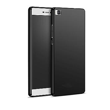 Funda Huawei P8 Lite (2016) , FANSONG Ultra Delgado Anti-scratch Antigolpes PC duro Carcasa Caso para Huawei P8 Lite (2016) Case (Negro)
