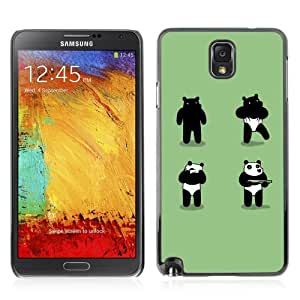 YOYOSHOP [Funny Panda Costume Bear Robber] Samsung Galaxy Note 3 Case
