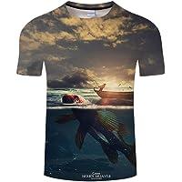 Htekgme Nueva Camiseta de Pesca 3D Summer Fishermen