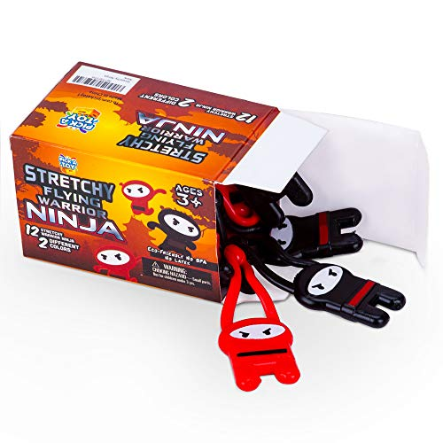 Pick A Toy Stretchy Flying Ninjas [12-Pieces] |
