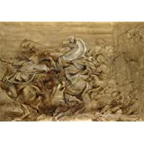 The polyster Canvas of oil painting 'Peter Paul Rubens A Lion Hunt ' ,size: 12 x 17 inch / 30 x 44 cm ,this Beautiful Art Decorative Prints on Canvas is fit for Nursery gallery art and Home decor and Gifts