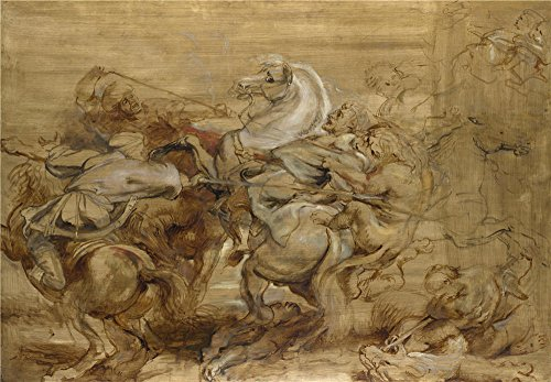 Oil Painting 'Peter Paul Rubens A Lion Hunt', 12 x 17 inch / 30 x 44 cm , on High Definition HD canvas prints is for Gifts And Home Office, - Westland Shopping Center