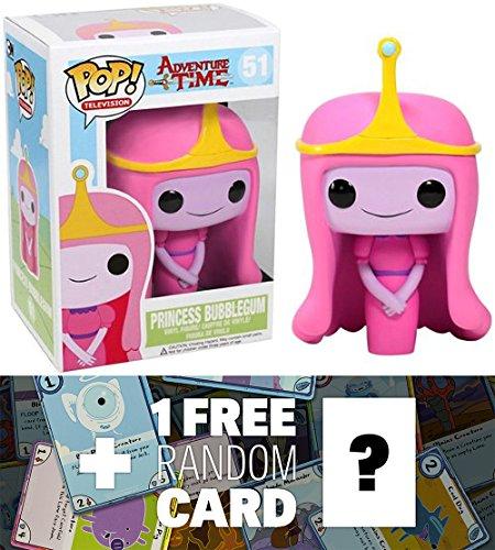 Princess Bubblegum  Funko Pop  X Adventure Time Vinyl Figure   1 Free Official Adventure Time Trading Card Bundle  32757