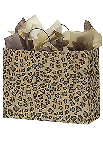Paper Bags 25 Large Leopard Skin Retail Merchandise Shopping Cheetah 16 x 6 x 12]()